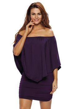 2d6efe190ce Her Fashion Multiple Dressing Layered Purple Mini Dress. Types De JupesRobe  ...
