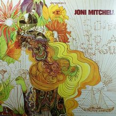 Vintage Joni Mitchell Vinyl Record, Folk Music