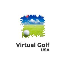 An awesome Virtual Reality pic! VIRTUAL GOLF. A second version logo made for an virtual reality golf game. #logo #art  #logodesigns #design #graphicdesign #graphic #concept #behance #dribbble #logoconcept #logodesigner #beautiful #minimalism #simple #adobe #logotype #branding #designers #think #golf #golfball #ball #virtual #sport #activity #virtualreality #green #grass #golfclub #golfflag by designmesomethingnice check us out: http://bit.ly/1KyLetq