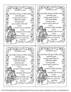 Snowman Soup - Printable Label                                                                                                                                                                                 More
