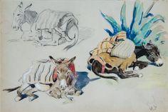 Anes (study) von Edouard Edmond Doigneau