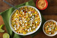 Mexican Street Corn Salad is a festive and flavorful side dish for your holiday spread. #Friendsgiving #Thanksgiving
