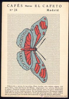 Embroidery card given as a premium