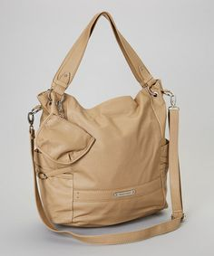 Take a look at this Tan Dakota Tote by Franco Sarto on today! Franco Sarto, Shoulder Strap, Take That, Comfy, Leather, Bags, Style, Handbags, Totes