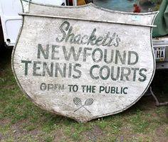 Vintage Tennis Sign