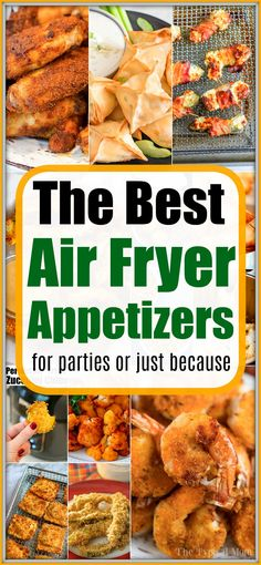 Best air fryer appetizers to make during a party or just because you want a healthy crunchy snack. Make them in your Ninja Foodi or other machine tonight. Best Air Fryer Appetizers You & Your Guests Wil Air Fryer Recipes Appetizers, Air Fryer Recipes Vegetarian, Air Fryer Recipes Low Carb, Air Fryer Recipes Breakfast, Spicy Appetizers, Air Fry Recipes, Air Fryer Dinner Recipes, Appetizers For Party, Cooking Recipes
