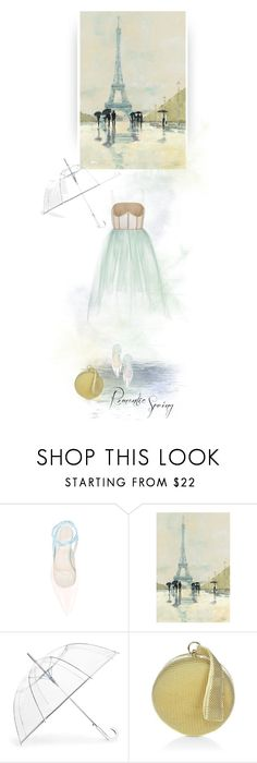 """""""Can you smell the rain?"""" by iriadna ❤ liked on Polyvore featuring Delpozo, ShedRain, Whiting & Davis, pastels, springdresses and rainydaylook"""