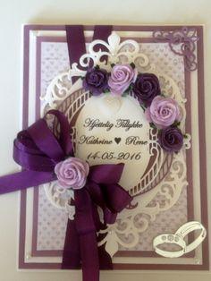 Weddingcard - bryllupskort - Spellbinderdies