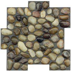 Peel&Stick Mosaics Peel and Stick Rocky Road x Composite Linear Mosaic Wall Tile (Common: x Actual: x Rock Backsplash, Herringbone Backsplash, Kitchen Backsplash, Easy Backsplash, Backsplash Panels, Backsplash Design, Travertine Backsplash, Beadboard Backsplash, Tile Covers