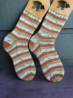 Excited to share this item from my shop: Pumpkin, cream & yellow {hand knit} socks - wool socks - Autumn gift idea - simple socks - pumpkin spice socks - thin socks - Size US 9 Wool Socks, Knitting Socks, Hand Knitting, Cheap Yarn, Knitting Quotes, Funky Socks, Mermaid Coloring, Fall Gifts, Wool Yarn