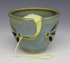 Yarn Bowl  Turquoise Glaze