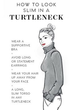 How to look slim in a turtleneck?