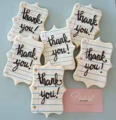 Thank You Cookies are a sweet way to let your teachers know you appreciate them! Order a dozen or more today! . . . #Cookies #SugarCookies #ThankATeacher #ThankYou #Teachers #Education #Etsy