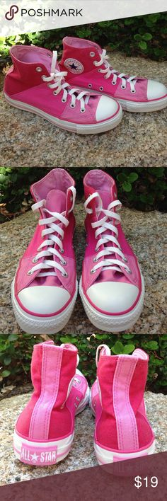 Pink High Top Chucks 💖 these are in great shape & are priced accordingly for wear 💖 Size 7.5 Converse Shoes Sneakers
