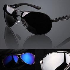 857c5e4079a New Mens Polarized Aviator Sunglasses Mirrored Outdoor Driving Fishing  Glasses Polarized Aviator Sunglasses