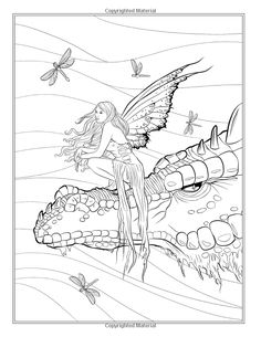 Fairy Companions Coloring Book - Fairy Romance, Dragons and Fairy Pets (Fantasy Art Coloring by Selina) (Volume 4): Selina Fenech: 9780994355447: Amazon.com: Books