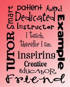 Teacher Printable