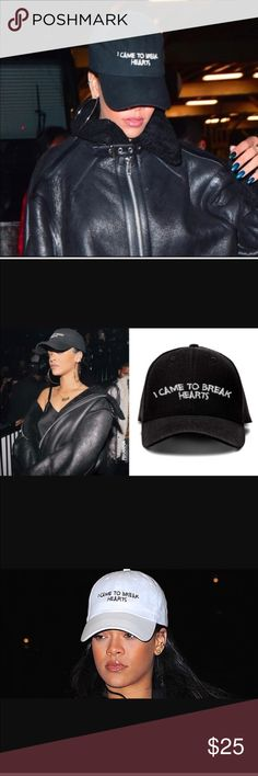 As seen on Rihanna 🖤🖤🖤 🖤🖤🖤Came to break hearts dad cap 🖤🖤🖤 ASOS Accessories Hats