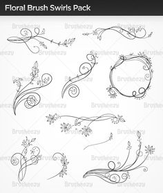 Floral-brush-swirls