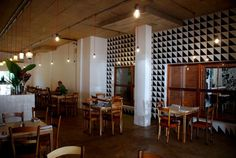 On a recent trip to Durban, our Elle Deco editor and team had a ball touring Durban's top eye-gladdening spaces. Stretta is one such place. Wood Fired Pizza, Elle Decor, Touring, Places To Go, Table, Furniture, Restaurants, Shops, Design