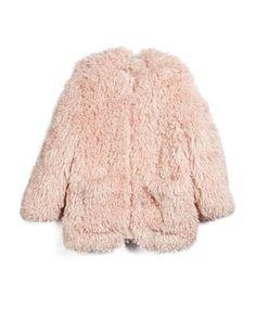 Sparkles Faux-Fur Jacket, Rose, Size 8Y-14Y by Stella McCartney at Bergdorf Goodman.