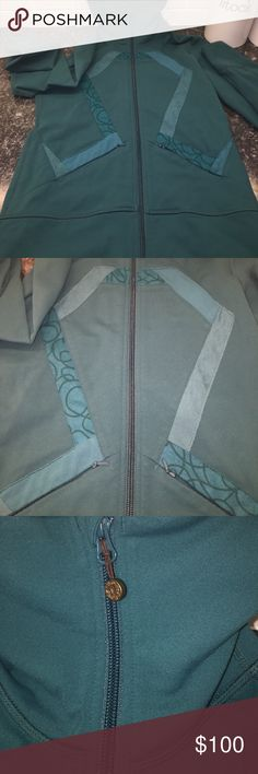 lululemon Jacket Super unique and pretty deep green zip up. No wearing or flaws at all. Zip up with high nice! z#0544 lululemon athletica Jackets & Coats