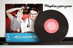 NOWOŚCI ŚLUBNE: Retro zaproszenia na płytach winylowych! Vinyl invitation