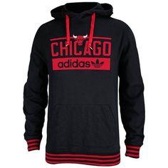 Mens Chicago Bulls adidas Black Originals Pullover Hoodie
