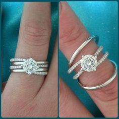 Removable wedding bands from Simon G at Wimmer's Diamonds in Fargo, ND