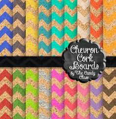Chevron Cork Board Digital Papers for Backgrounds for All Seasons....look there is Christmas colors, fall colors, spring colors, Valentine colors, a little Irish green flair, and summer colors. And their chevron with a new twist....cork board!