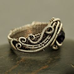 Nicole Hanna Jewelry | Wire Wrapped Amethyst Crystal Wave Ring | Online Store Powered by Storenvy