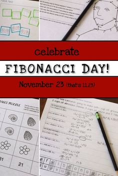 Four great activities to highlight the accomplishments of Fibonacci on 11/23!