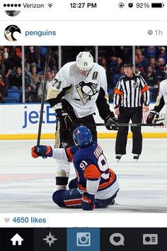 Malkin telling the capt of the islanders to sit the fuck down