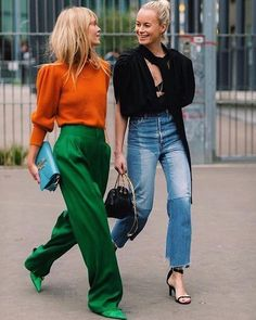 it's all bout the woman on the left. that color combo is killin it. + the texture differences are incredible.