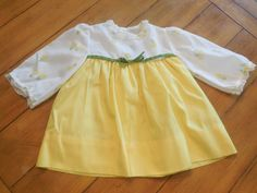 Size 24 months   Vintage Mid Century Mod Yellow by LittleMarin