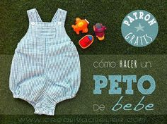paso a paso para confeccionar un peto de bebé con incluido. Sewing Kids Clothes, Baby Kids Clothes, Sewing For Kids, Childrens Sewing Patterns, Kids Patterns, Baby Sewing Projects, Sewing Tutorials, Toddler Outfits, Kids Outfits