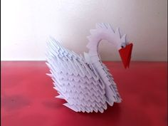 How to make 3D origami easy swan                                                                                                                                                                                 More
