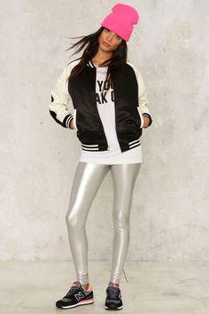 Nasty Gal Shine and Dash Metallic Leggings | Shop Clothes at Nasty Gal!