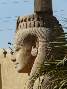 Colossal Meritamen statue, Akhmim, Egypt (Many pieces of Rameses were found in Akhmim.This is probably his beloved daughter Meritamen.)