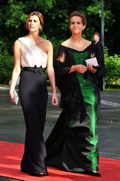 Princess Elena of Spain (R) and guest attend the Government Pre-Wedding Dinner for Crown Princess Victoria of Sweden and Daniel Westling at The Eric Ericson Hall on June 18, 2010 in Stockholm, Sweden.