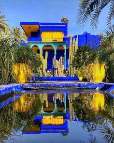 - very nice stuff - share it - jardinmajorelle 💙 marrakech morocco Visit Morocco, Morocco Travel, Marrakech Morocco, Marrakech Gardens, Moroccan Garden, Mexican Garden, Jardim Majorelle, Hotel Centro, Colourful Buildings