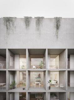 Prison, Architecture Visualization, Facade House, Concrete, Architectural Drawings, Ell, Interior, Buildings, Arquitetura
