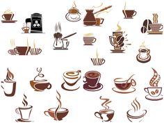 Coffee cup logos vector