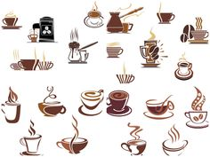 Coffee cup logos vector