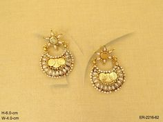 CHAND BALI TYPE TEMPLE COIN EARRINGS