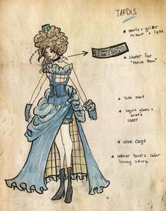 TARDIS Dress by *tweetnbirdy ... I'd wear this one!
