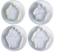 Ausstecher Cupcakes, 4 teilig