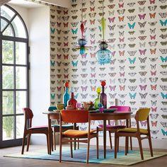 walnut wallpaper for powder room Papilio 111079