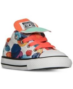 18c645623bb Converse Toddler Girls  Chuck Taylor All Star Double Tongue Casual Sneakers  from Finish Line Kids - Finish Line Athletic Shoes - Macy s