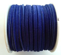 Cobalt Blue Leather Suede Lace on Etsy, $0.80